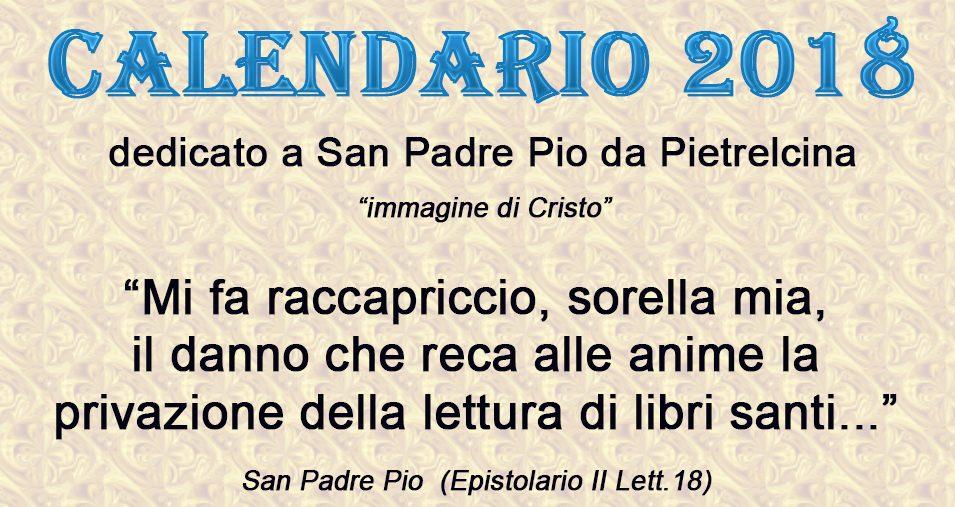Il nostro Calendario di Padre Pio del 2018